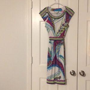 Gorgeous Eci embellished jersey dress
